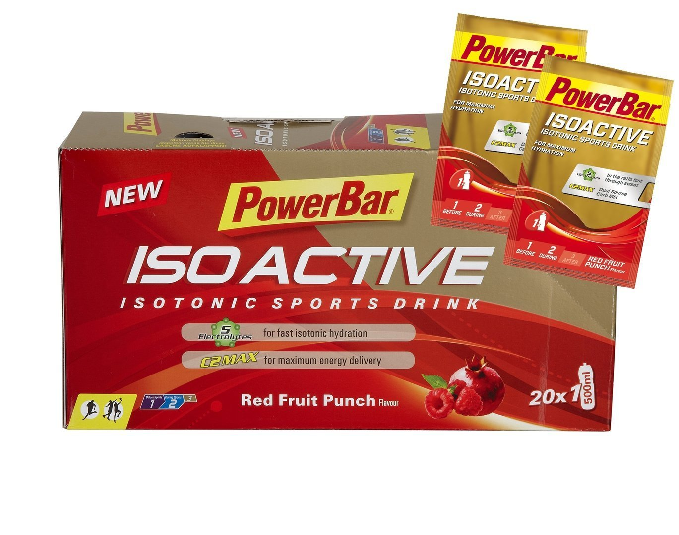 Powerbar Iso Active Sports Drink Portionsbeutelbox