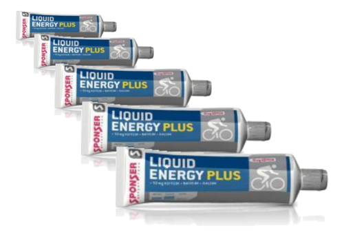 Sponser Liquid Energy Gel PLUS Koffein Tube 5ér Pack