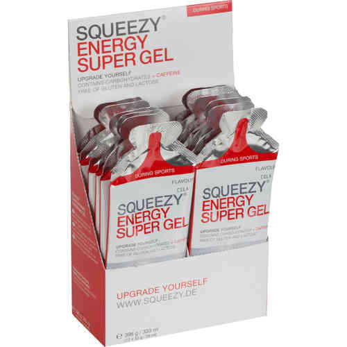 Squeezy Energy Super Gel Box mit Koffein