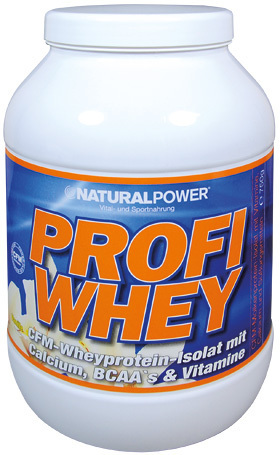 Natural Power Profi Whey Protein 750g Dose