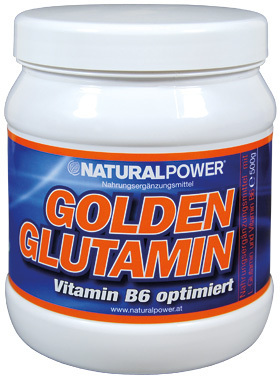 Natural Power Golden Glutamin 500g Dose
