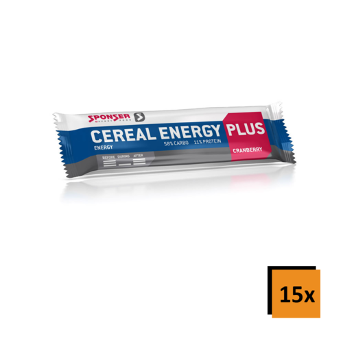 Sponser Cereal Energy Plus 15ér Box