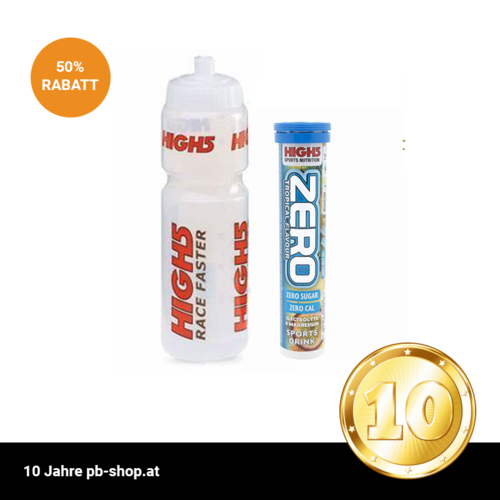 High5 Trinkflasche incl. High5 Zero 10ér Tabs Dose