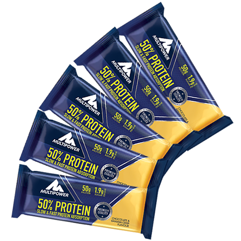 Multipower 50% Protein Bar XXL 5er Pack