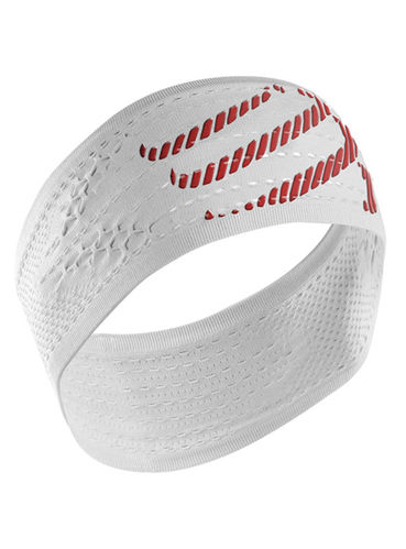 Compressport HEADBAND ON/OFF weiß