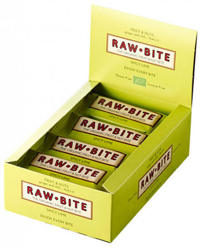 Raw Bite BIO Riegel Scharfe Limette 12er Box