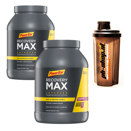 2xPowerBar Recovery Max 1144g Dosen inkl. Shaker