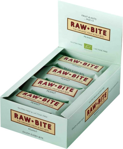 Raw Bite BIO Riegel Erdnuss 12ér Box MHD 03-2019