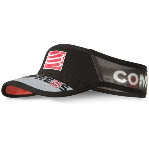 Compressport Visor V2 Ultralight schwarz/grau/rot