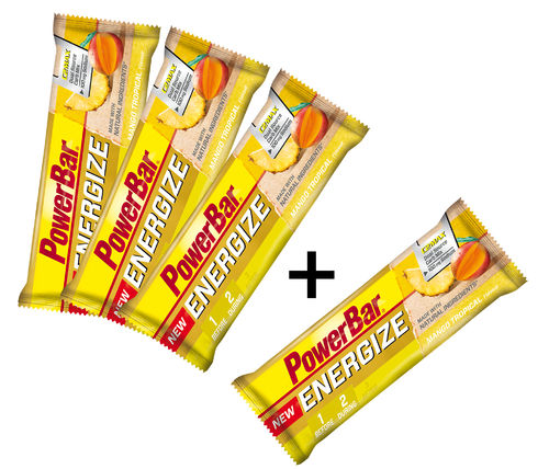 PowerBar Energize Riegel NEU 3+1 Mango Tropical Aktion