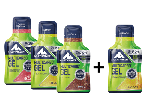Multipower Multi Carbo Energy Gel 3+1 Aktion