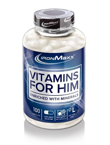 IronMaxx Vitamins For Him - 100er Kapseldose