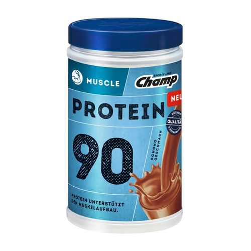 Champ Protein 90 Shake Muscle Schoko 390g Dose MHD 03-2018