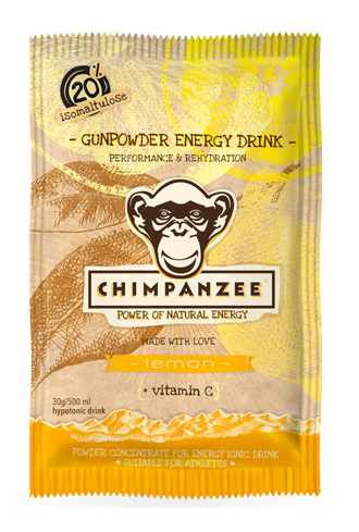 Chimpanzee Gunpowder Energy Drink Portionsbeutel Wildkirsche MHD 04-18