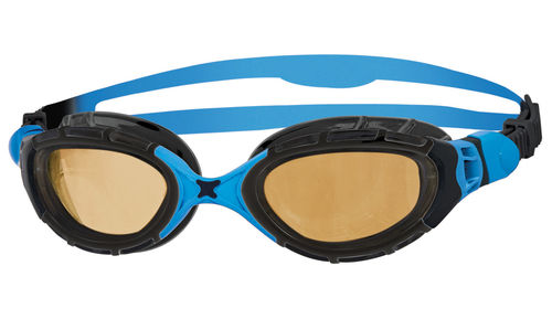 Zoggs Schwimmbrille Predator Flex Polarized Ultra black / blue