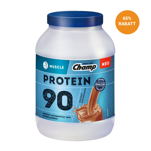 Champ Muscle Protein 90 Nougat 780g Dose MHD 05.2018