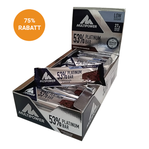 Multipower 53% Platinium Protein Bar 24er Box Schoko MHD Aktion 02.2019