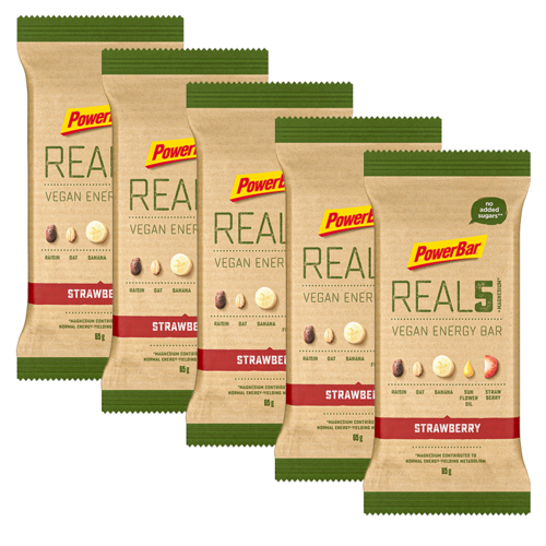 Powerbar REAL5 Vegan Energy Bar Riegel 5er Pack