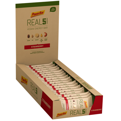 Powerbar REAL5 Vegan Energy Bar Riegel 18er Box