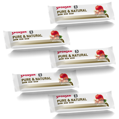 Sponser Pure & Natural Bar Vegan Riegel 5er Pack