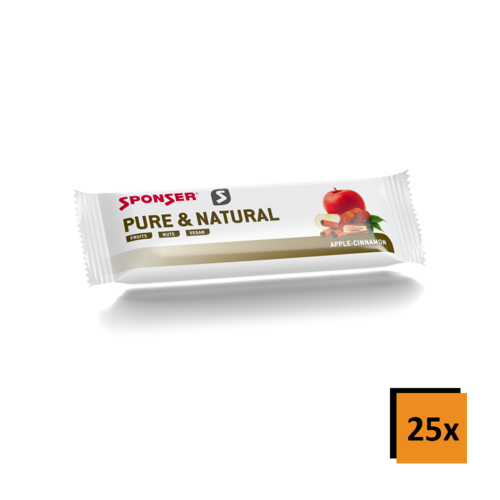 Sponser Pure & Natural Bar Vegan Riegel 25er Box
